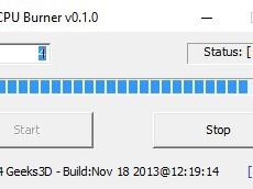 Тестирование центрального процессора с помощью программы CPU Burner