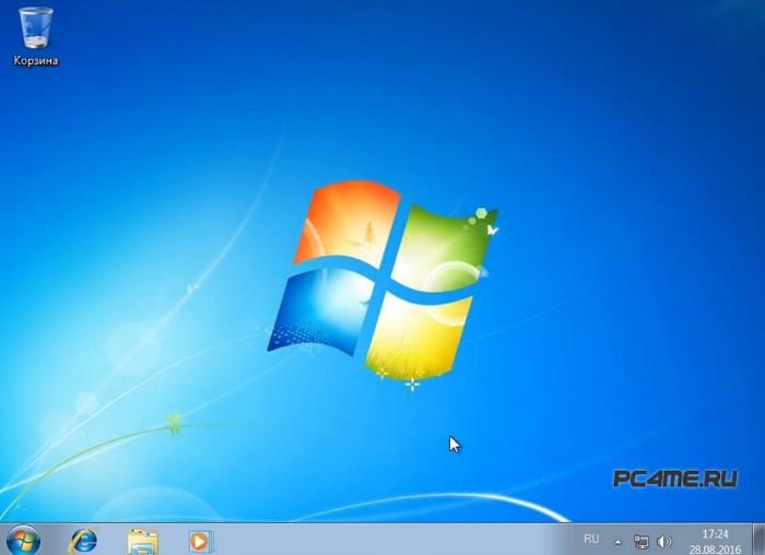 первый запуск windows 7