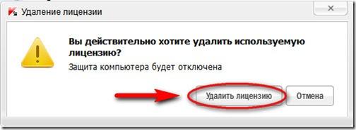 Kaspersky delete license