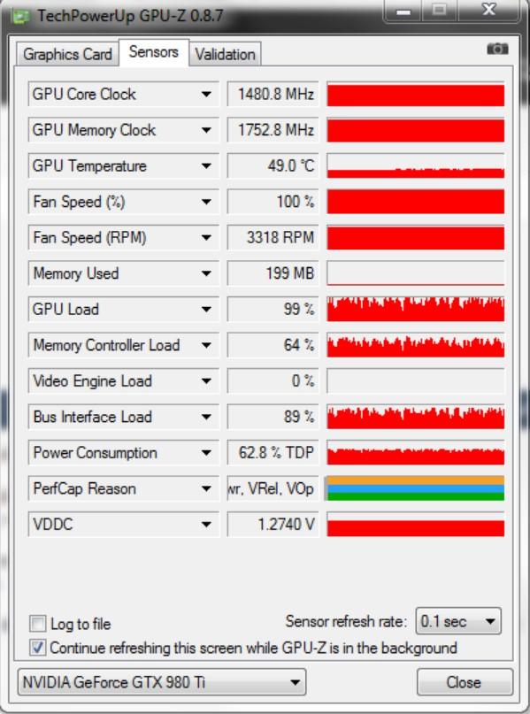 Проверка температуры с помощью GPU– Z