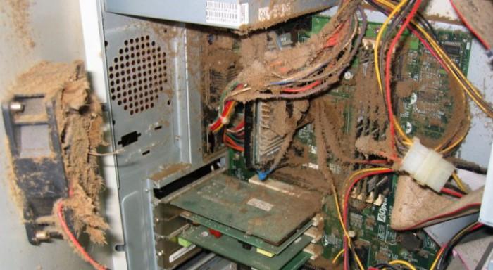 уборка пыли в компьютере