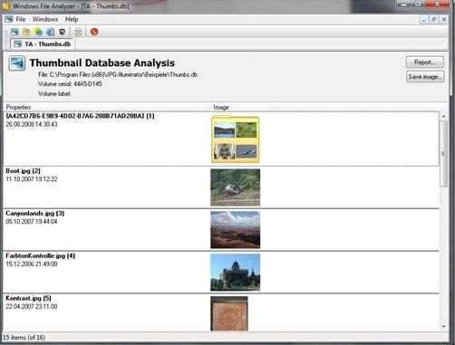 открытие файла в программе Windows File Analyzer