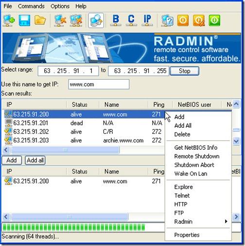 настройка удаленного соединения radmin