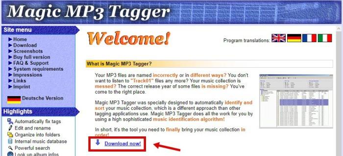 Magic MP3 Tagger скачать